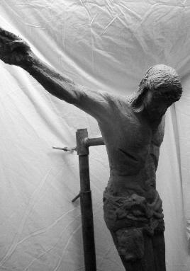 "New Sculpture , ""Crucifixion""  , New Bronzes - Crucifixion  Work in Progress"